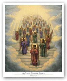 Gospel Choir of Angels art print by Tim Ashkar