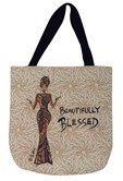 Beautifully Blessed Woven Tote Bag--Cidne Wallace