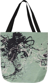 Star I Ebony Art Tote Bag