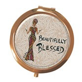 Beautifully Blessed Compact Mirror --Cidne Wallace