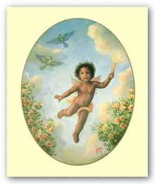 Little Cherub art print by Tim Ashkar