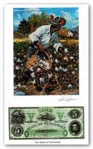 Color of Money - Slave Gathering Cotton: Tennessee Art Print - John Jones