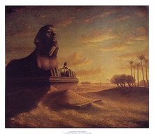 Cleopatra at the Sphinx art print by Tim Ashkar