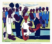 I Baptise Thee (mini) Art Print - William H. Johnson