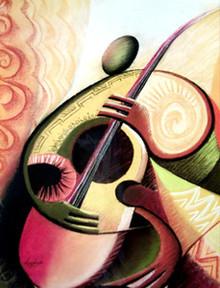 Strings Art Print - Okaybabs