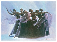 Steppin' Out (mini) Art Print - Lavarne Ross