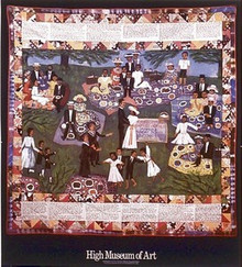 Church Picnic Quilt Art Print - Faith Ringgold