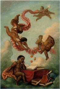 Cherubs Studying Art Print - Tim Ashkar