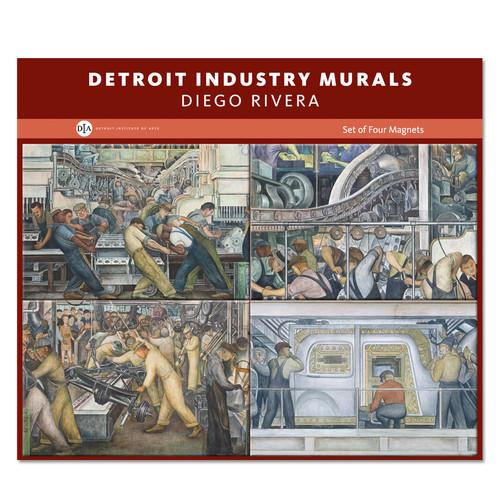 Diego rivera detroit industry murals set of 4 magnets for Detroit industry mural