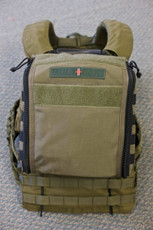 Shown attached to the back of a Plate Carrier