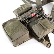 Shown attached to a Haley Strategic Chest Rig.