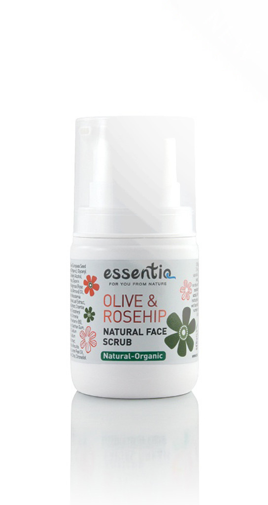 Natural Facial Scrub Olive & Rosehip 50ml