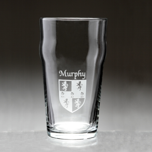 The Pub Glass with Irish Coat of Arms