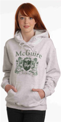 Vintage Coat of Arms Hoodie Ash | Irish Rose Gifts