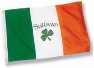 Personalized Irish Shamrock Name Flag - 2x3 | Irish Rose Gifts