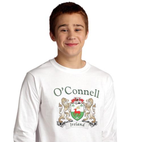 Irish Coat of Arms Long Sleeve Tee Shirt | Irish Rose Gifts