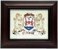 Framed Irish Coat of Arms - in Mahogany