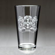 Lions Pint Glass with Your Irish Coat of Arms