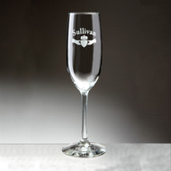 Irish Claddagh Champagne Flute (set of 2) - Sand Etched