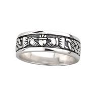 Men's Claddagh Ring - Sterling Silver by Solvar