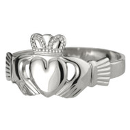 Ladies Claddagh Ring - Sterling Silver by Solvar