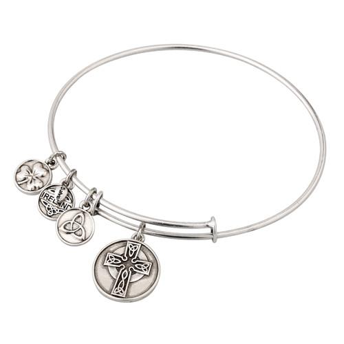 Celtic Cross Sliver tone bracelet/bangle - Allergy safe and by Solvar Ireland