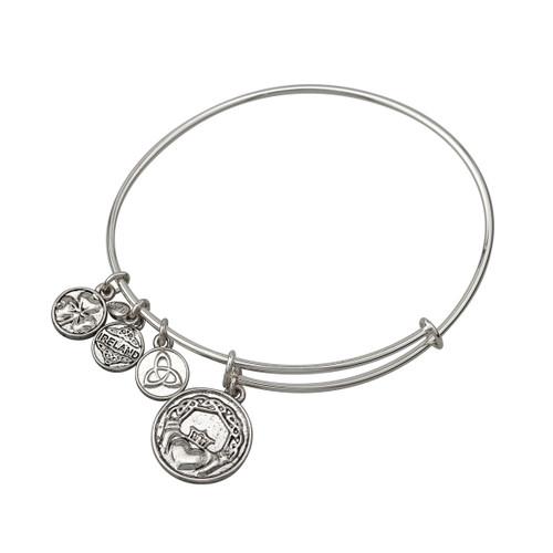 Claddagh Bracelet/bangle silver tone - Allergy safe and by Solvar Ireland