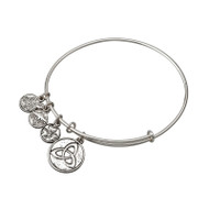 Trinity Knot Bracelet/bangle silver tone - Allergy safe and made by Solvar Ireland