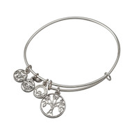 Tree of Life Sliver tone bracelet - Allergy safe