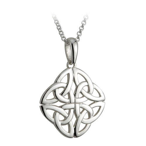 4 trinity knot necklace sterling silver by solvar jewelry 4 trinity knot necklace sterling silver by solvar jewelry box aloadofball Images