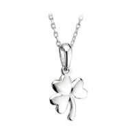 Irish Shamrock Necklace - Sterling Silver
