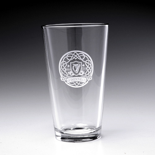 Personalized Celtic Circle Pint Glass - 16oz - Set of 4 (Sand Etched)