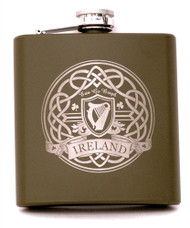 Army Green Harp Flask
