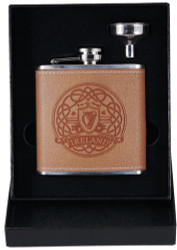 Harp Leather Flask & Funnel Box Set | Irish Rose Gifts