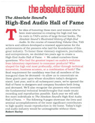 The Absolute Sound - High-End Audio Hall of Fame