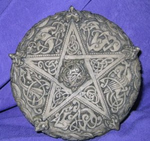 Celtic Knotwork Pentacle Plaque by Dryad Designs
