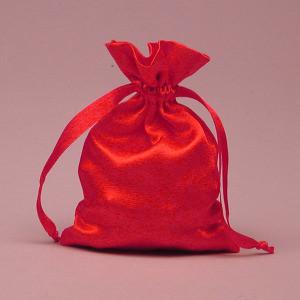 "Red Satin Bag 3x4"""