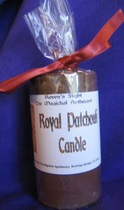 Royal Patchouli Magickal Pillar Candle *Soy Wax*