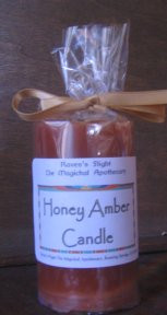 Honey Amber Pillar Candle *Palm Wax*