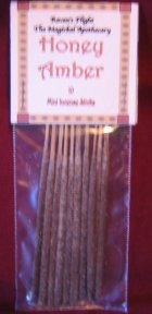 Honey Amber Mini Incense Sticks