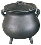 "3.5"" Pot Belly Cauldron w/Lid"
