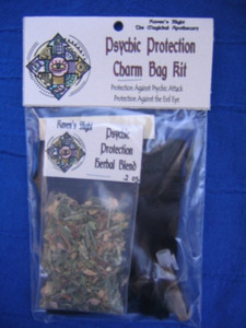 Psychic Protection Charm Bag Spell Kit