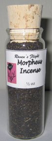 Morpheus Charcoal Incense 1/2 oz vial