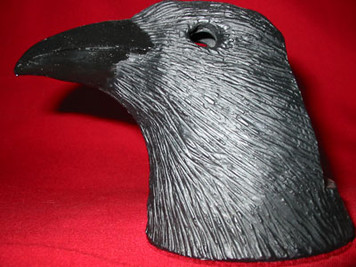 Raven Head Tea Light Candle Holder