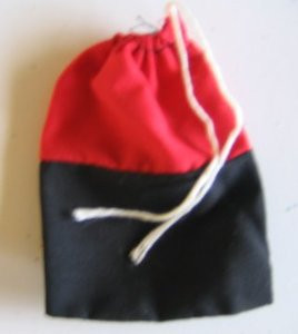 Cotton Bag-Red & Black