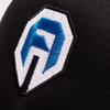 Armored white and blue logo
