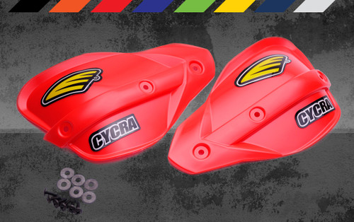 Cycra Classic Enduro Shields Shield Color: Red Shields and Black Hardware