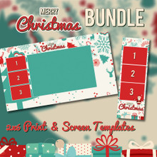Christmas Bundle - 2x6 Print Template and Screen Template