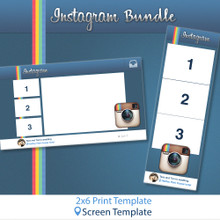 Instagram Bundle - 2x6 Print Template and Screen Template