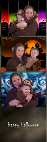 Kids Halloween 2x6 Green Screen Print Template